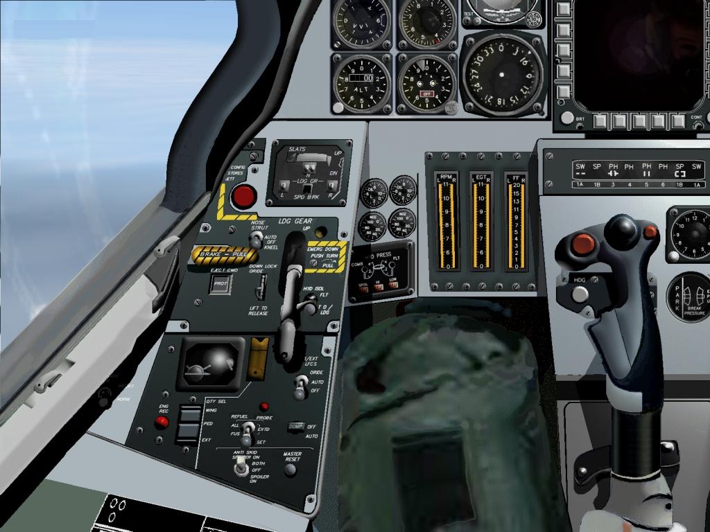 F 14d Cockpit 시뮬레이션...